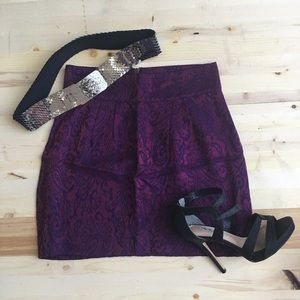 Mini Skirt With Embroidered